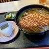 長野屋  - 料理写真:カツのせカレーそば おにぎり