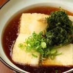 五島名産 あおさ海苔の揚げ出し豆腐