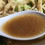 信州小麦ラーメン 亀屋  - 味噌やさいらーめんのスープ