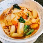 中国料理 四川 - 五目中華丼 スープ付き 650円