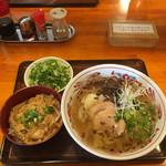 康明 - 塩麹塩そば+青ねぎトッピング+ミニ親子丼