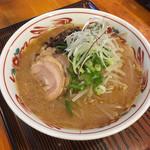 康明 - 塩麹味噌そば+もやしトッピング