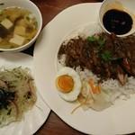 96306455 - 美味しいスープと美味しいヤムウンセン(春雨サラダ)