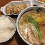 塩元帥 - 天然塩らーめん 柚子多め (*´ω`*) 餃子 ライス セット
