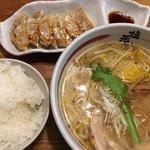 塩元帥 - 天然塩らーめん (*´ω`*) 餃子 ライス セット