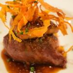 お肉とワインのバルSPAJIO - A5宮崎牛シンタマステーキとフォアグラのロッシーニ