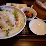中国料理 甜甜酒楼 - フカヒレ粥定食セット
