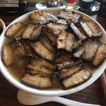 麺家 西陣 - 肉そばアップ
