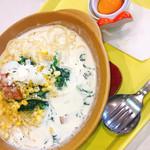 パルメナーラ - 料理写真:トッピングはほうれん草とコーン麺2倍