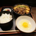 96330948 - すき焼き定食(お肉150g)