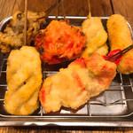 でんがな - 紅生姜(2種)、舞茸、牛串(2本)、ウインナー