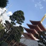 96336117 - スカイツリーと浅草寺