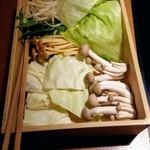 しゃぶしゃぶ温野菜 - セットの野菜
