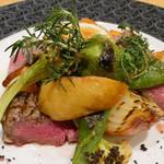 京Apollo食堂 - (撮影 20181110)ヒレステーキ…付け合せの野菜も手抜き無し。