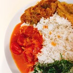 アハサ食堂 - スリランカカレープレート  アップ