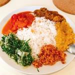 アハサ食堂 - スリランカカレープレート