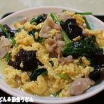 江南苑 - きくらげと豚肉、玉子炒め