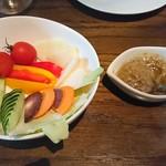 二階のレストラン - 季節野菜のバーニャカウダ