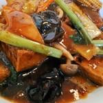 Ryuukahanten - 揚げ豆腐と白身魚の山椒風ピリ辛炒め