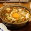山本屋本店 - 料理写真:牡蠣・コーチン入り味噌煮込うどん:メニューの写真とだいぶ違う(汗)
