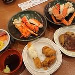 登別温泉 ホテルまほろば - 料理写真:夕食(三大蟹他)
