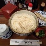 やしま - ざるうどん(大盛)880円+ちくわ天
