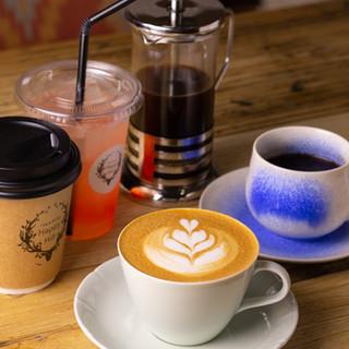 カフェでも食後の一杯でも!こだわりコーヒーはテイクアウトOK