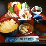 海鮮亭 - 刺身定食1620円