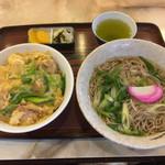 水舟 - 親子丼と、かけ蕎麦850円