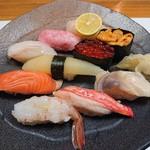鮨まるやま - 特選小樽握り(3,240円)