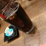 利久 - 定食に付くドリンク(アイスコーヒー・ウーロン茶、オレンジジュース・グレープフルーツジュースから選択)