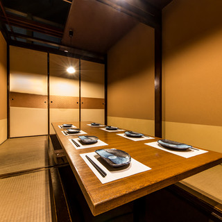 ゆったりとしたくつろぎ空間は接待や商談などに最適。