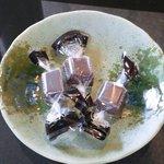 コーヒーハウス ナカザワ - お口直しのチョコレート