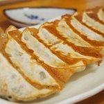 久留米ラーメン丸八 - 餃子(8コ))350円(大き目で美味し)