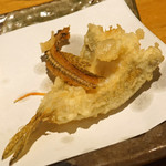 石臼挽き手打 蕎楽亭 - ハゼと骨煎餅