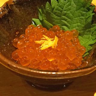 石臼挽き手打 蕎楽亭 - 料理写真:イクラの醤油漬け
