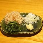 石臼挽き手打 蕎楽亭 - ざる豆腐の薬味