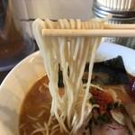 ラーメンストップ ボン - 麺はこんな感じ