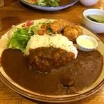 レストラン伊勢屋 - 料理写真:海老フライ、帆立フライ、カレーライス