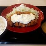 かつや - 料理写真:タルタルチキンカツ定食。