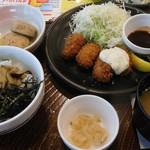 ガスト - 料理写真:牡蠣づくし!カキフライと牡蠣の漬けご飯和膳