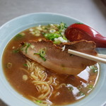 Yodoyashiyokudou - 厚切りのバラ肉のチャーシュー