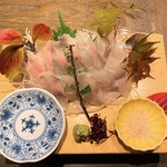 小川の魚 - 料理写真:活岩魚刺し