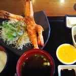 あげ丼CYAYA よし - 海老フライ定食