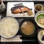 魚久 イートイン あじみせ - さけ京粕漬け定食1242円税込