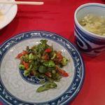 大吉 - ザーサイとスープ