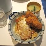 福与志 - かつ丼、カキフライ2