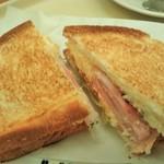 ドトールコーヒーショップ - [料理] ハムタマゴサラダ (トーストサンド) プレート全景♪w