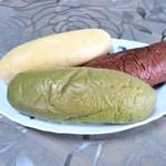 森國ベーカリー - チョコ、抹茶、プレーン