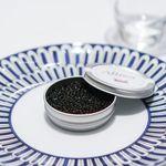 Grand rocher - ヤリイカのタルタル、ミント風味 オセトラのキャビア